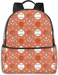 HFdAK.t Baseball Softball Sport Game Fashion Casual Backpack Travel Computer Daypack Cute Bookbags for Men Women