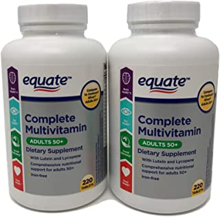 Equate Mature Adult 50+ One Daily Complete Multivitamin Compare to Centrum Silver ® Adults 50+ 220 Count (2)