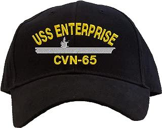 USS Enterprise CVN-65 Embroidered Baseball Cap - Black