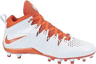 Nike Men's Air Huarache 4 Lacrosse Cleats (10.5 M US, White/Orange)