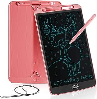 Tableta de Escritura LCD 12 Inch Aprendizaje Escribir Borrado Parcial Almohadilla de Dibujo Doodle Inteligente para Oficina Escuela o en Casa Tableta de Gráfica Portátil para Niños y Adultos(Rosa)