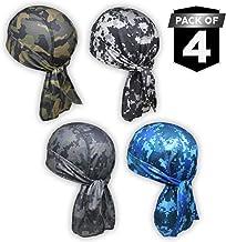OutdoorEssentials Cooling Helmet Liner - Do Rag/Dew Rag Skull Cap Beanie for Men - Pirate Hat Bandana & Motorcycle Head Wrap