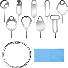 11 Pieces SIM Card Removal Tool - Card Tray Eject Pins Needle, Card Tray Pin Eject Removal Tool, Needle Opener Ejector, Tray Eject Pin Ejector, Needle Pin Remove
