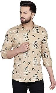 Menkovy Men's Printed Slim Fit Full Sleeve Casual Shirt