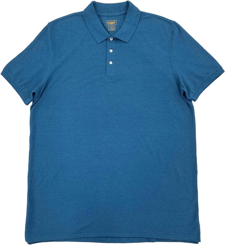 The Foundry Mens Big & Tall Blue Sapphire Sea Heather Polo T-Shirt