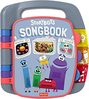 Fisher-Price StoryBots Songbook, musical book with facts about space, dinosaurs and the human body for preschool kids ages...
