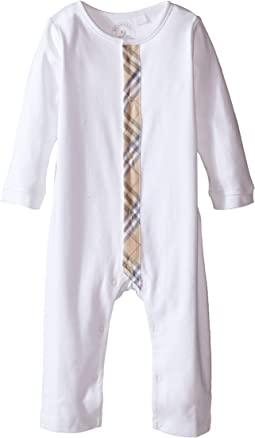 Burberry Kids - One-Piece with Check Detail Placket (Infant)