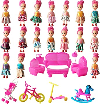 Details about  /Fashion Doll Clothes Doll Shoes Outfits Set With 16cm Mini Dolls with White Skin