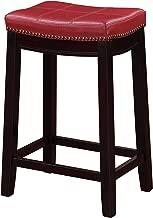 Linon Claridge Red Counter Stool, 26