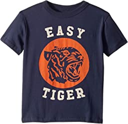 Extra Soft Cotton Easy Tiger Print Short Sleeve Tee (Toddler/Little Kids)