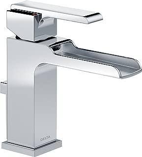 Delta Faucet Ara Single-Handle Waterfall Bathroom Faucet with Metal Drain Assembly, Chrome 568LF-MPU