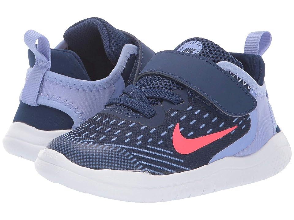 Nike Kids Free RN 2018 (Infant/Toddler) (Blue Void/Flash Crimson/Twilight Pulse) Girls Shoes