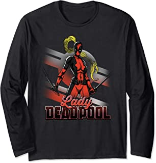Marvel Deadpool Lady Anti-Stay-At-Home Mom Manche Longue