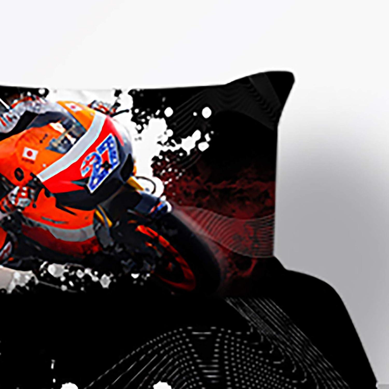 THEE Bed Sets for Boys Dirt Bike Motocross Bedding Duvet Cover Quilt Cover Full