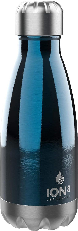 ion8 Botella Aislada de Vacío y Botella de Agua de Acero Inoxidable, 280ml / 10oz