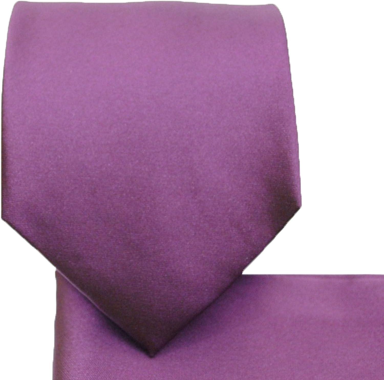 Solid Purple Necktie and Pocket Square Set