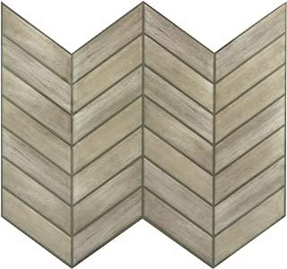 RoomMates StickTILES Chevron Distressed Wood  Peel and Stick Backsplash Tiles- 4 Per Pack