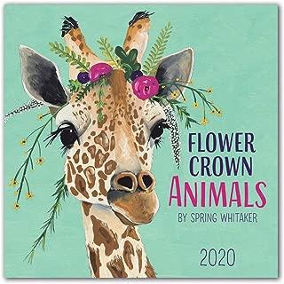 Orange Circle Studio 2020 Wall Calendar, Spring Whitaker Flower Crown Animals