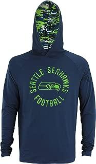 NFL Men's Mini Camo Long Sleeve Lightweight Performance Hooded Shirt - Team Options