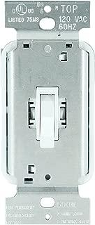 Legrand - Pass & Seymour T600WV Toggle Dimmer Light Switch 600-watt Single Pole Easy Install, White