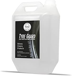 Wavex® Tyre Polish 5 LTR | Gives Lustrous Dark, Long Lasting Super Black Shine - Non-Greasy and No Sling Formulation