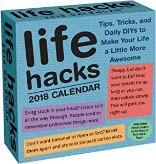 Life Hacks 2018 Day-to-Day Calendar