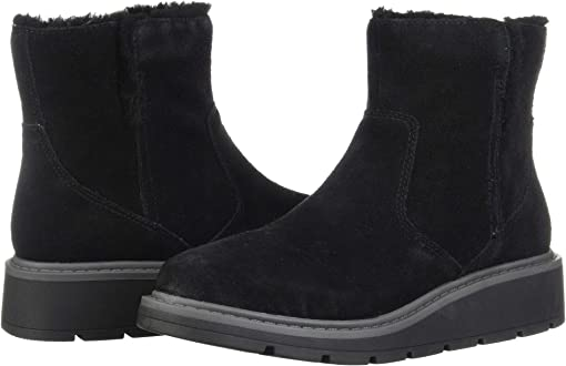 Black Warm Lined Suede