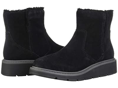 Clarks Ivery Opal (Black Warm Lined Suede) Women