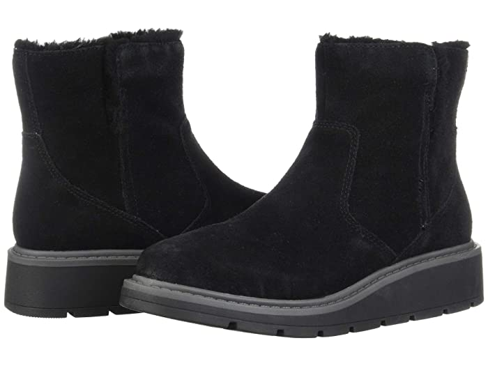 Clarks  Ivery Opal (Black Warm Lined Suede) Womens  Boots
