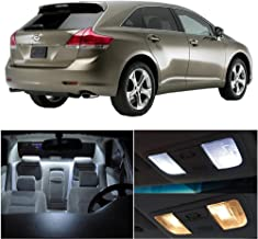 SCITOO 14Pcs White Interior LED Light Package Kit Replacement Bulbs Fits for Toyota venza 2009-2015