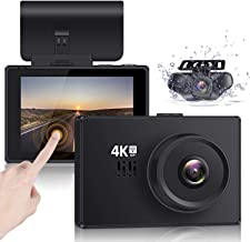 """Lifechaser Dual Dash Cam 4K Front and Rear Car Camera 1080P+1080P, 3"""" OLED Touch Screen WiFi GPS Night Mode 150°, Parking ..."""