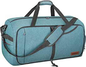 Canway 65L Travel Duffel Bag, Foldable Weekender Bag with Shoes Compartment for Men Women..