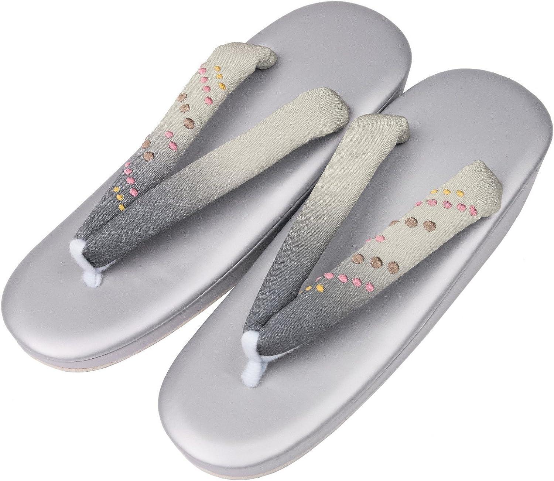 KYOETSU Women's R-Footbed Zori Sandals for Kimono and Yukata 35