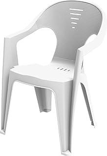 Cosmoplast 6291048155225 Plastic Regina Armchair (White)