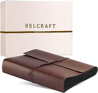 Belcraft Vietri Album Fotografico in Pelle Riciclata con Pagine Nere, Album Portafoto, Scrapbook, Realizzato a Mano da Art...