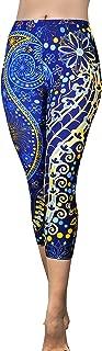 Comfy Yoga Pants - Workout Capris - High Waist Workout Leggings for Women - Lightweight Printed Yoga Legging