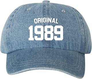 Original 1989 30th Birthday Dad Hat Cap Unstructured Hats New - Blue Denim
