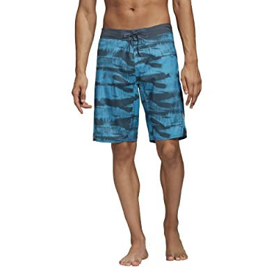 adidas Tech Two-Color Knee Length Shorts (Legacy Blue/Shock Cyan) Men