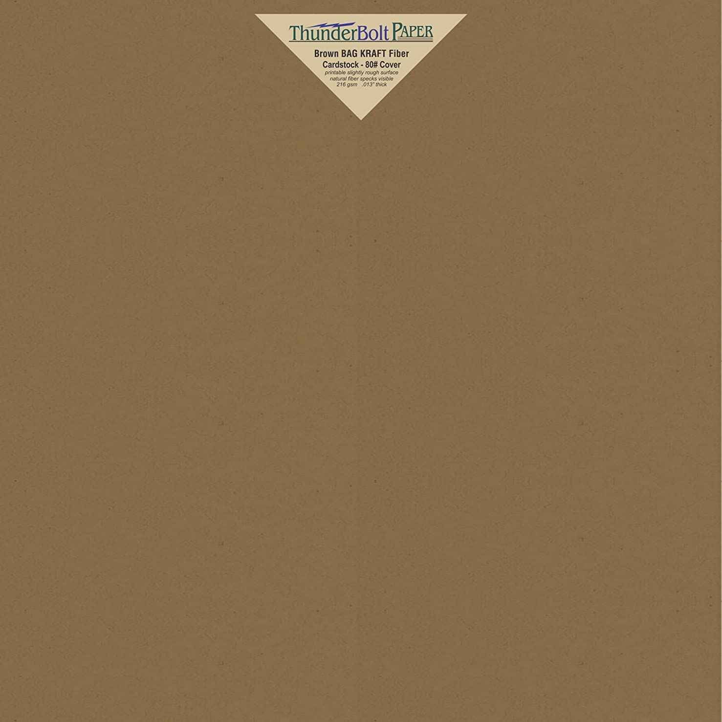 25 Brown Bag Colored Cardstock Paper Sheets - 12 X 12 inches Scrapbook Album|Cover Size – 80 lb/Pound Cover|Card Weight 216 GSM - Natural Kraft Fiber with Darker Specks - Slightly Rough Finish