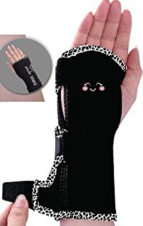 Wrist Brace Carpal Tunnel - Relief & Support by Margin Wellness Removable Splint Hand Brace Compression Light Weight Adjustable Breathable Fits Left or Right Hand Daytime & Nightime (Fun Pink, XS/SM)