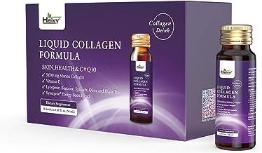 Heivy Liquid Collagen Supplement, Collagen Drink, Collagen Peptides, Skin & Health Collagen, Hydrolyzed Collagen, with CoQ...
