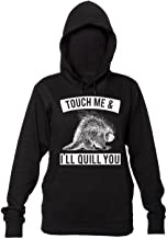 Finest Prints Touch Me & I'll Quill You Dangerous Porcupine Women's Hooded Sweatshirt