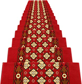 JIAJUAN Stair Carpet Treads Non-Slip Durable Staircase Protection Rugs Step Mat Indoor,13mm, 4 Styles, Customize (Color : ...