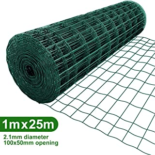 Amagabeli 1M X 25M Malla de Alambre Cuadrada Verde –