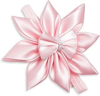 Lila Amalie Designs Satin Hair Flower Headband for Girls