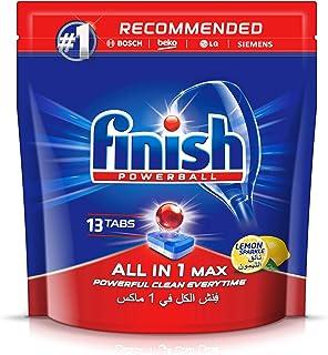 Finish Dishwasher Detergent All in One Tablets, Lemon, 13 Tabs