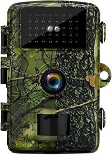 MISSJJ Wildlife Camera 1080P 12MP Hunting Trail Cameras with 40 pcs infrared LEDs,940nm No Glow Night Vision Motion Waterp...