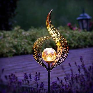 Gadgy Zestaw 2 lamp solarnych na zewnątrz płomień   Wodoodporna lampa solarna do dekoracji ogrodu   Lampy ogrodowe LED