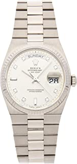 Rolex Day-Date Quartz (Battery) Silver Dial Mens Watch 19019 (Certified Pre-Owned)