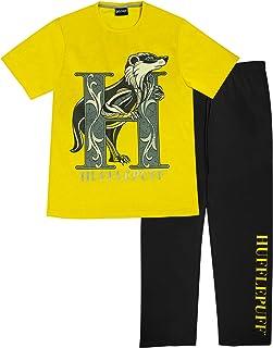 Harry Potter Hufflepuff Men's Long Pyjamas Set   Official Merchandise   Gift Idea For Him Husband Boyfriend Partner, Night...